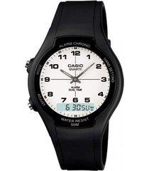 reloj casual casio aw-90h-7b- negro