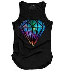 regata skull clothing diamante galaxy preto - preto - masculino - dafiti