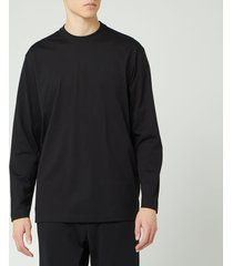 y-3 men's classic chest long sleeve t-shirt - black - l