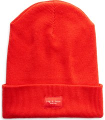 women's rag & bone addison merino wool beanie - red