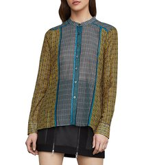 border weave tie-front shirt