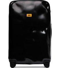 crash baggage icon large rolling suitcase - black