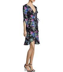 audrey floral silk wrap dress