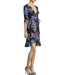 audrey floral silk wrap dress