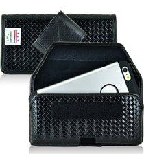 iphone 6s+ plus samsung s7 edge police pouch belt clip turtleback horizontal vel