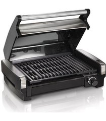 hamilton beach electric indoor flavor searing smokeless grill stainless steel