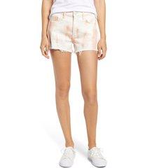 mavi jeans rosie tie dye denim shorts, size 26 in pale blush batik at nordstrom