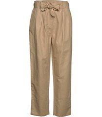 selene mw trousers pantalon met rechte pijpen beige second female