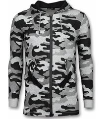 sweater enos casual vest - long fit camouflage vest -