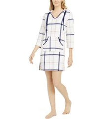 nautica women's long sleeve hooded fleece pajama lounger, online only