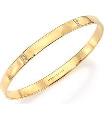stardust 18k yellow gold & diamond 3-station bracelet