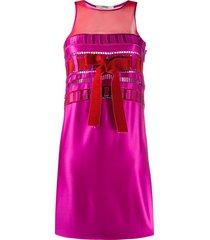 gianfranco ferré pre-owned 1990s sleeveless ribbon dress - pink