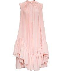 alexander mcqueen pink trapeze asymmetrical dress