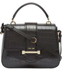 calvin klein amara top handle satchel