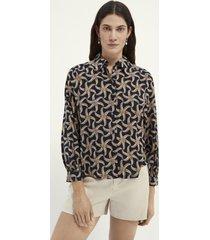 maison scotch 161499 printed organic cotton viscose shirt