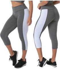 calça click mais bonita legging capri suplex feminina