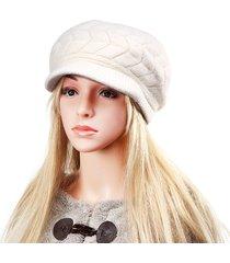 cappello berretto in lana da donna in misto lana con pelliccia e fodera in pelliccia