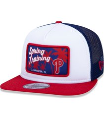 boné new era 950 trucker philadelphia athletics branco/azul