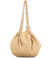 0711 shu silk pouch tote - neutrals