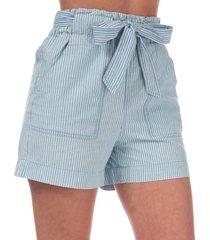 vero moda womens emily chambray shorts size 10 in blue