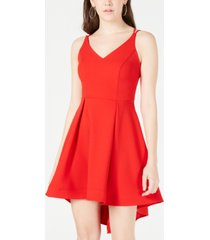 b darlin juniors' strappy high-low dress