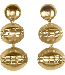 natori goldss double cage clip earrings, women's