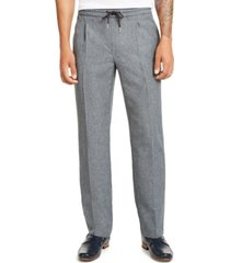 alfani men's pleated drawstring pants, created for macy's