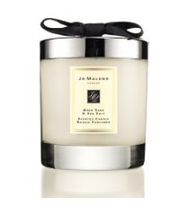 vela perfumada wood sage & sea salt home candle 200g - bege