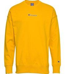 crewneck sweatshirt sweat-shirt tröja gul champion