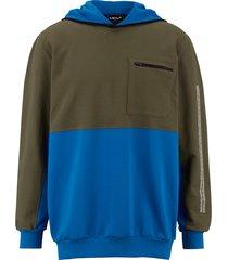 sweatshirt men plus olijf::blauw