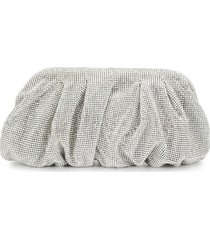 benedetta bruzziches beaded long clutch - silver