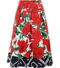 pleated rose skirt
