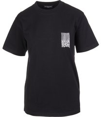 balenciaga woman black slim fit barcode t-shirt
