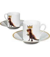 jean-michel basquiat 'gold dragon' porcelain espresso set