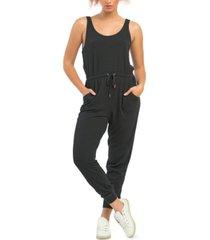 black tape petite ribbed-knit jumpsuit