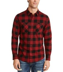 american rag men's austin check shirt