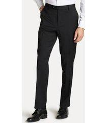 tommy hilfiger men's regular fit suit pant in black twill black twill - 34/32