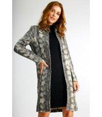 casaco longo wool line trench coat estampado feminino