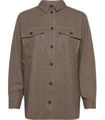 enmanuel ls shirt 6788 långärmad skjorta beige envii