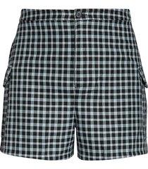 plus size women's bp. plaid cargo shorts, size 2x - black