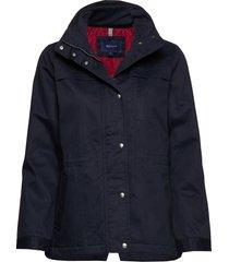 d1. short casual jacket parka lange jas jas blauw gant