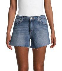 mid-rise cutout denim shorts