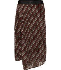 riba skirt ma18 knälång kjol brun gestuz
