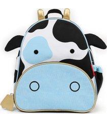 mochila zoo vaca skip hop azul - tricae