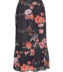 skirt-jersey lång kjol svart brandtex