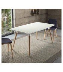 mesa de jantar retrô 4 lugares artesano valentinna 180cm branco