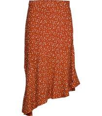 nuaanishah skirt knälång kjol röd nümph