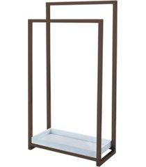 kingston brass pedestal 2-tier steel construction towel rack with wooden case bedding