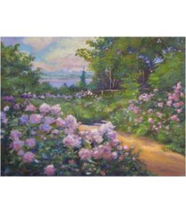 "david lloyd glover beach garden impressions canvas art - 37"" x 49"""