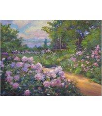 "david lloyd glover beach garden impressions canvas art - 37"" x 49"""